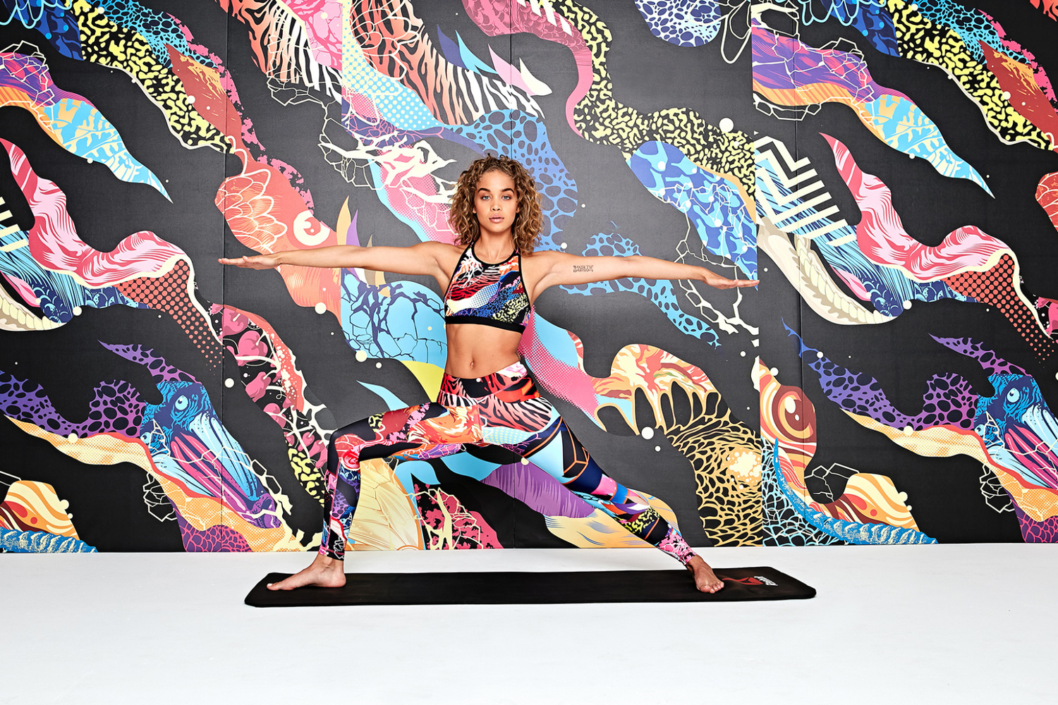 Who Said That Yoga Attire Has To Be Boring Be Bold With Reeboks Graffiti Collaboration