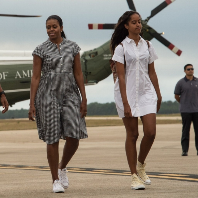 First Lady Michelle Obama and daughter Malia made twin moves this week in the Converse Chuck Taylor and the Converse Chuck Taylor Ox.  First family swag, y'all.