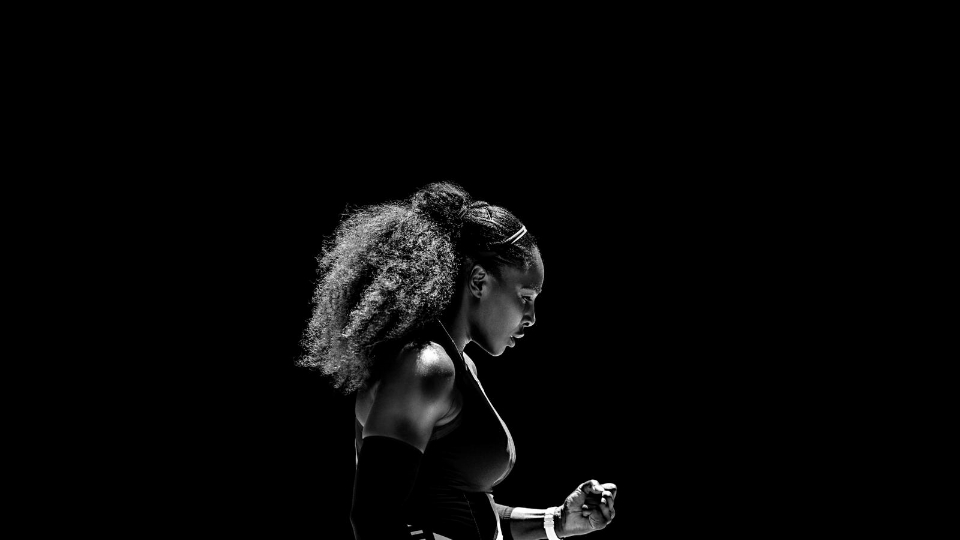 Serena Williams after winning her 23rd Grand Slam at the Australian Open 2017. Image Nike
