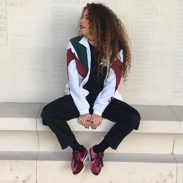 #ChicksNKicks Chick Of The Day: @curly_paups x Nike Cortez Classic PRM Velvet