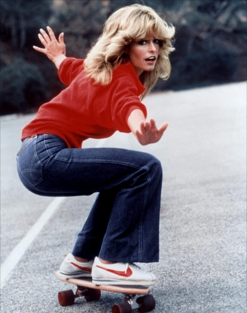 Farrah Fawcett in the Nike Senorita Cortez