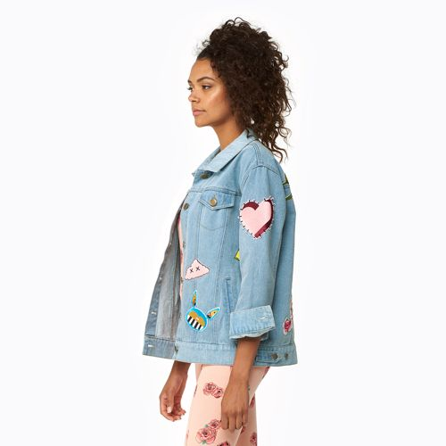 Love You With All My Art Denim Jacket