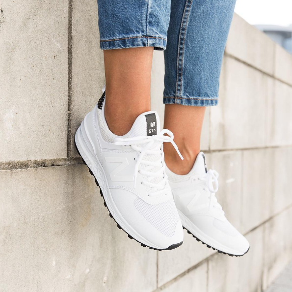 New Balance Womens 574 Sport 'White Out