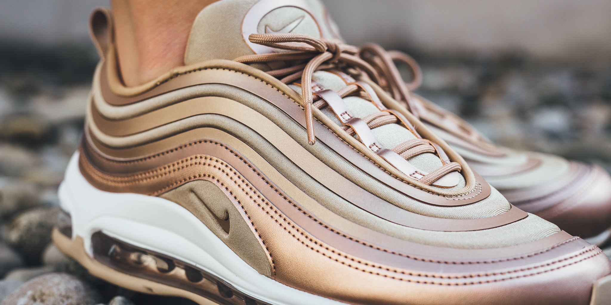 chaussures nike wmns air max 97 ultra 17 rose gold