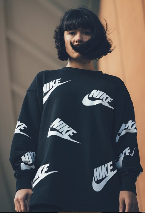 86f12ef2243 Make a statement and rep the Swoosh with this all-over logo print set. This Nike  Sportswear Crew combines comfort and continued warmth.