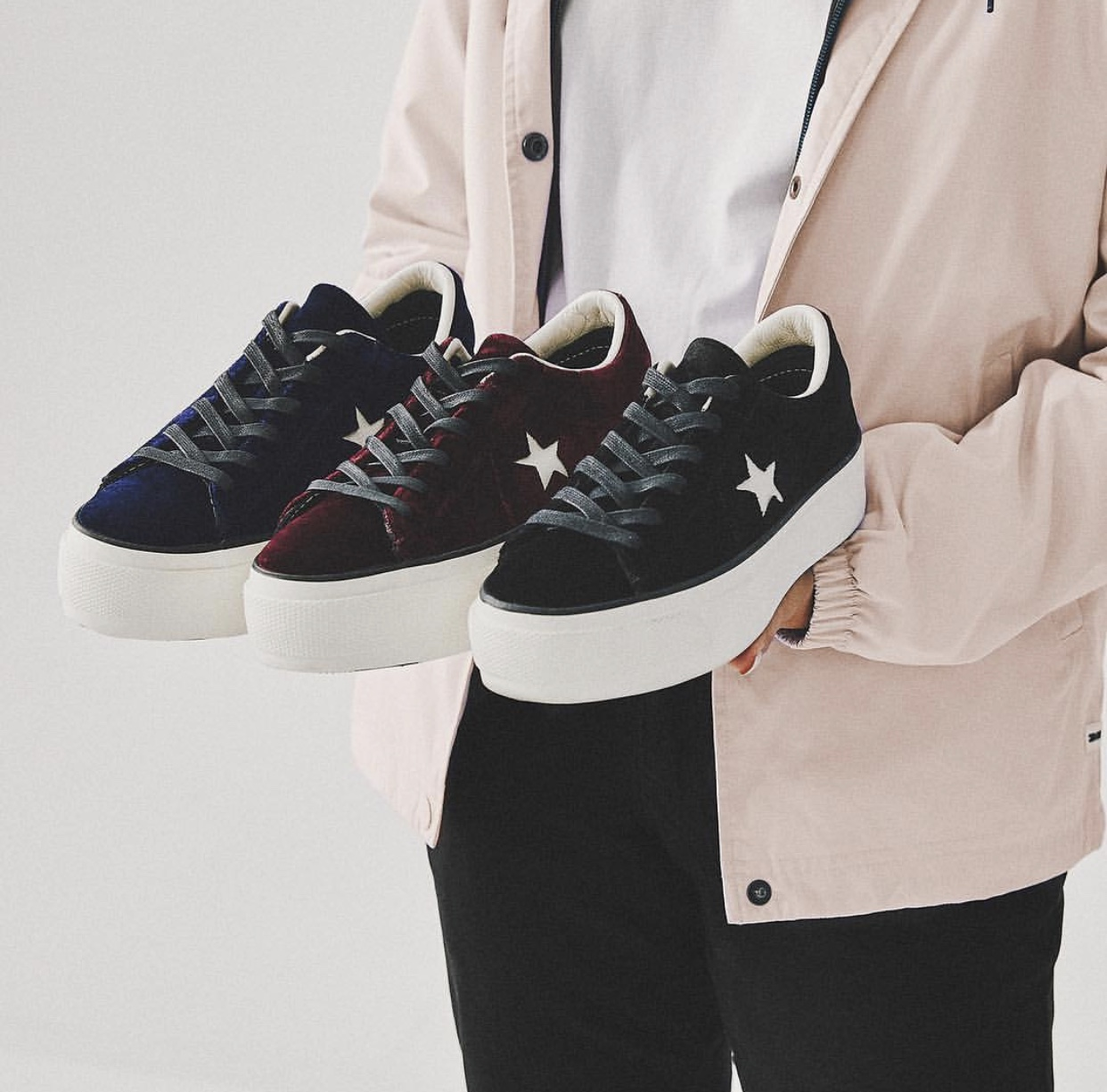 85908690f855 Cop or Can  Converse One Star Velvet Platform — CNK DailyChicksNKicks