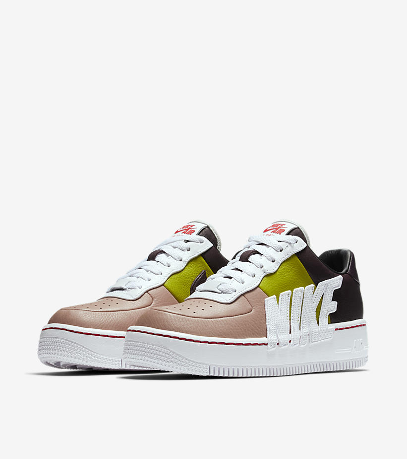 8ae391038a6891 NIKE WOMEN S AIR FORCE 1 LOW UPSTEP  PORT WINE   BRIGHT CACTUS . RELEASE  DATE  APRIL ...