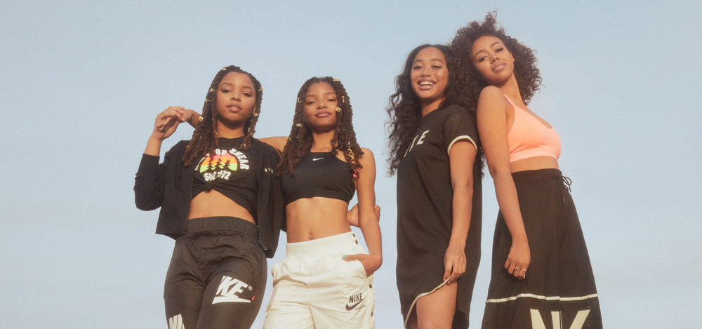 more photos d1581 ce34b Chloe x Halle Team Up With Nike Air Society For Festival Season