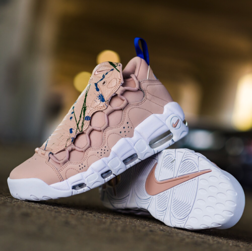 The WMNS Nike Air More Money Hits The SneakHER Streets