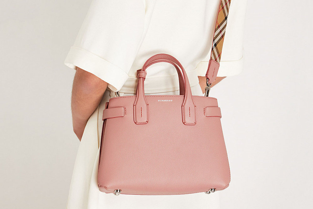 82fe93949f93 Burberry Has Us Intrigued With Their New Small Banner Leather Tote. June 5