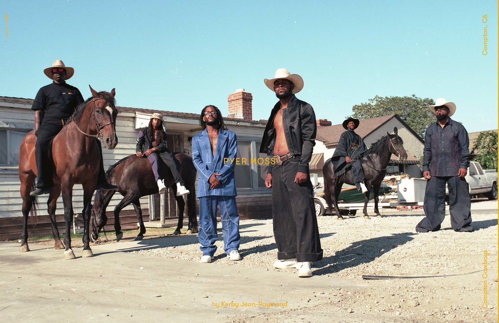 Compton Cowboys for Pyer Moss Fall 2018. Photo: Rubberband and Kerby Jean-Raymond.