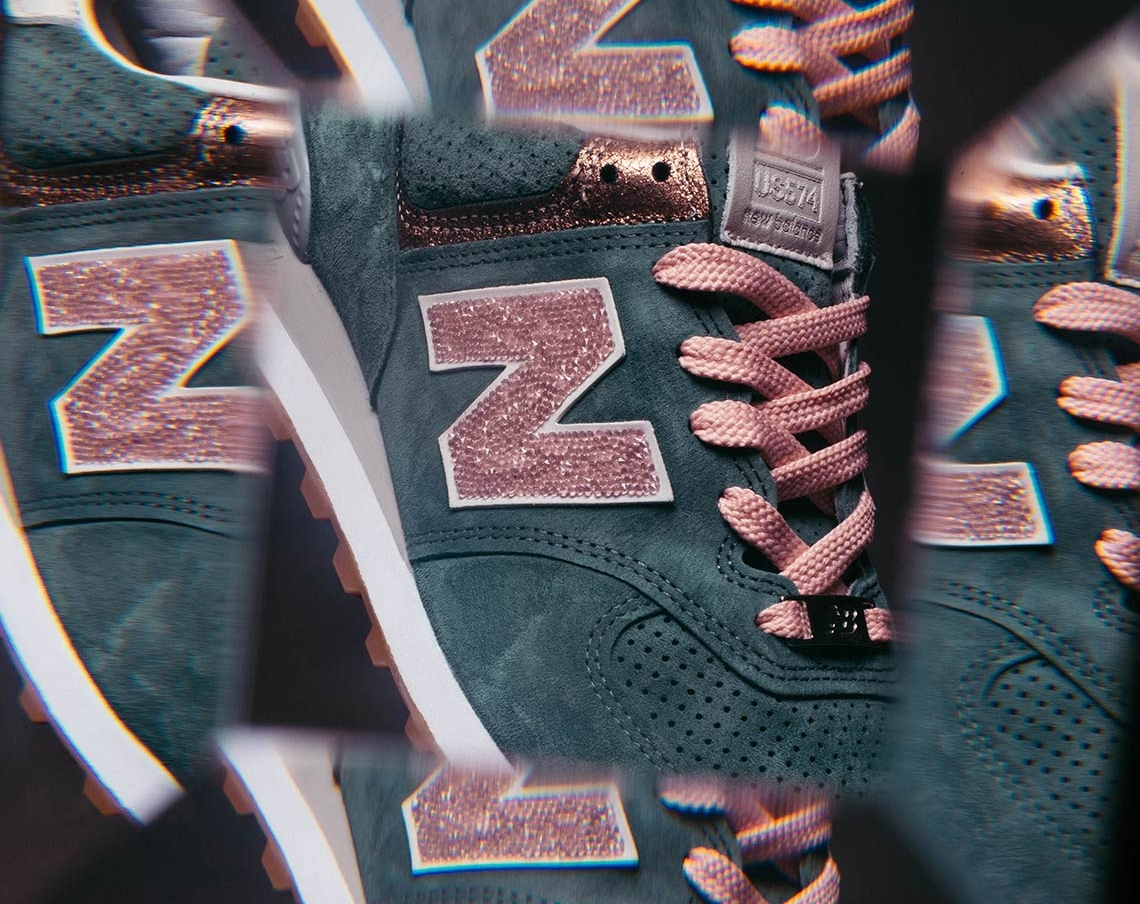 the latest 450b6 7a51e Shine All Season In This New Balance 574 With Swarovski ...