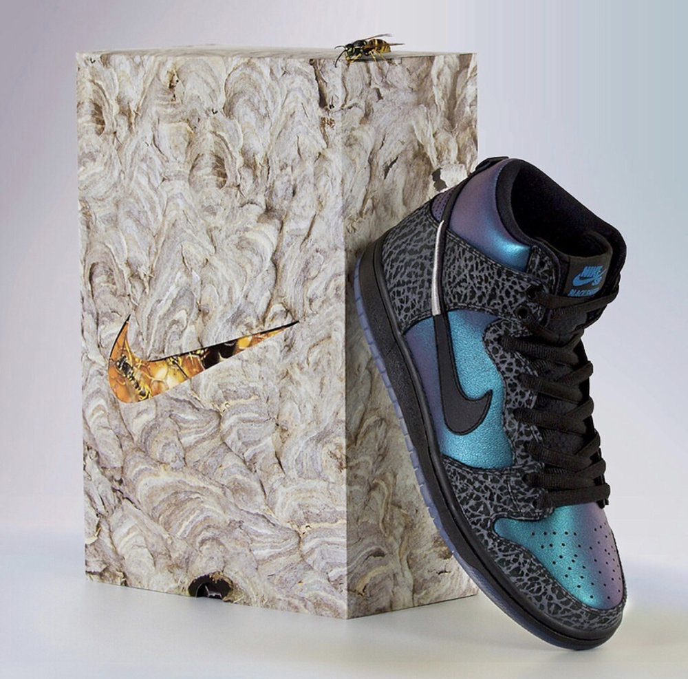 """premium selection e4f1c df88b I personally love the colorway on this Dunk High and how Black Sheep  incorporated the fusion of the Air Jordan 1. The Black Sheep x Nike SB """" Black Hornet"""" ..."""