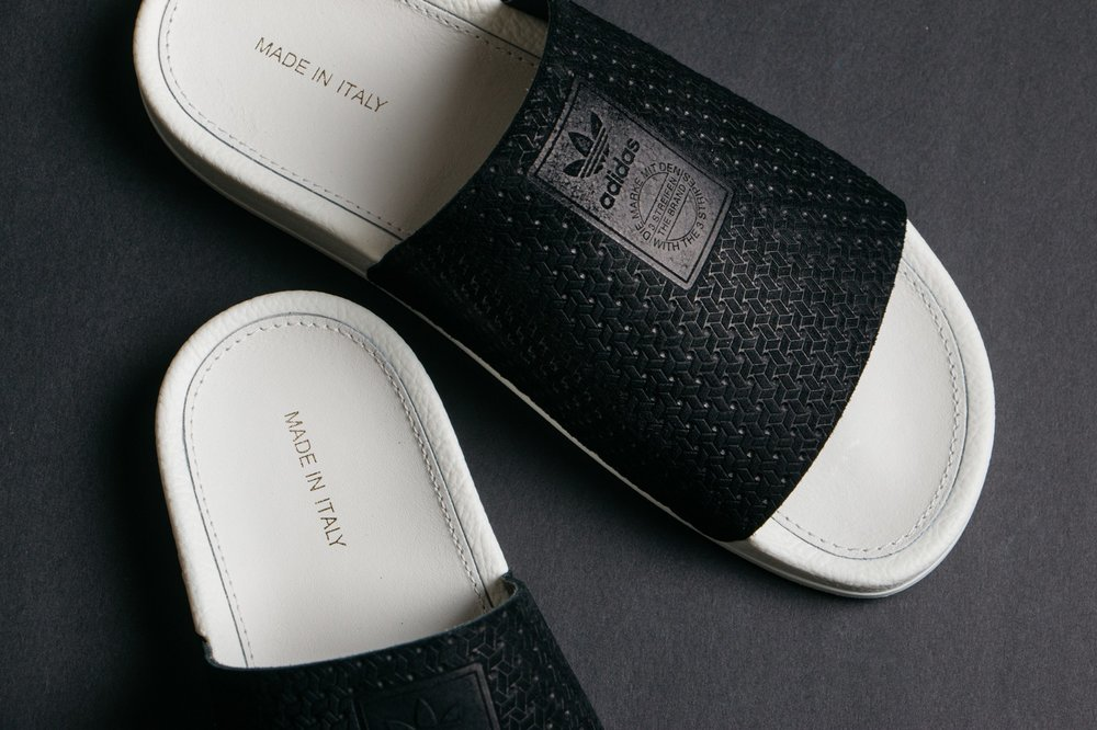 fc729188c Cop or Can  adidas Originals Adilette Luxe Slides In  Core Black  — CNK  DailyChicksNKicks