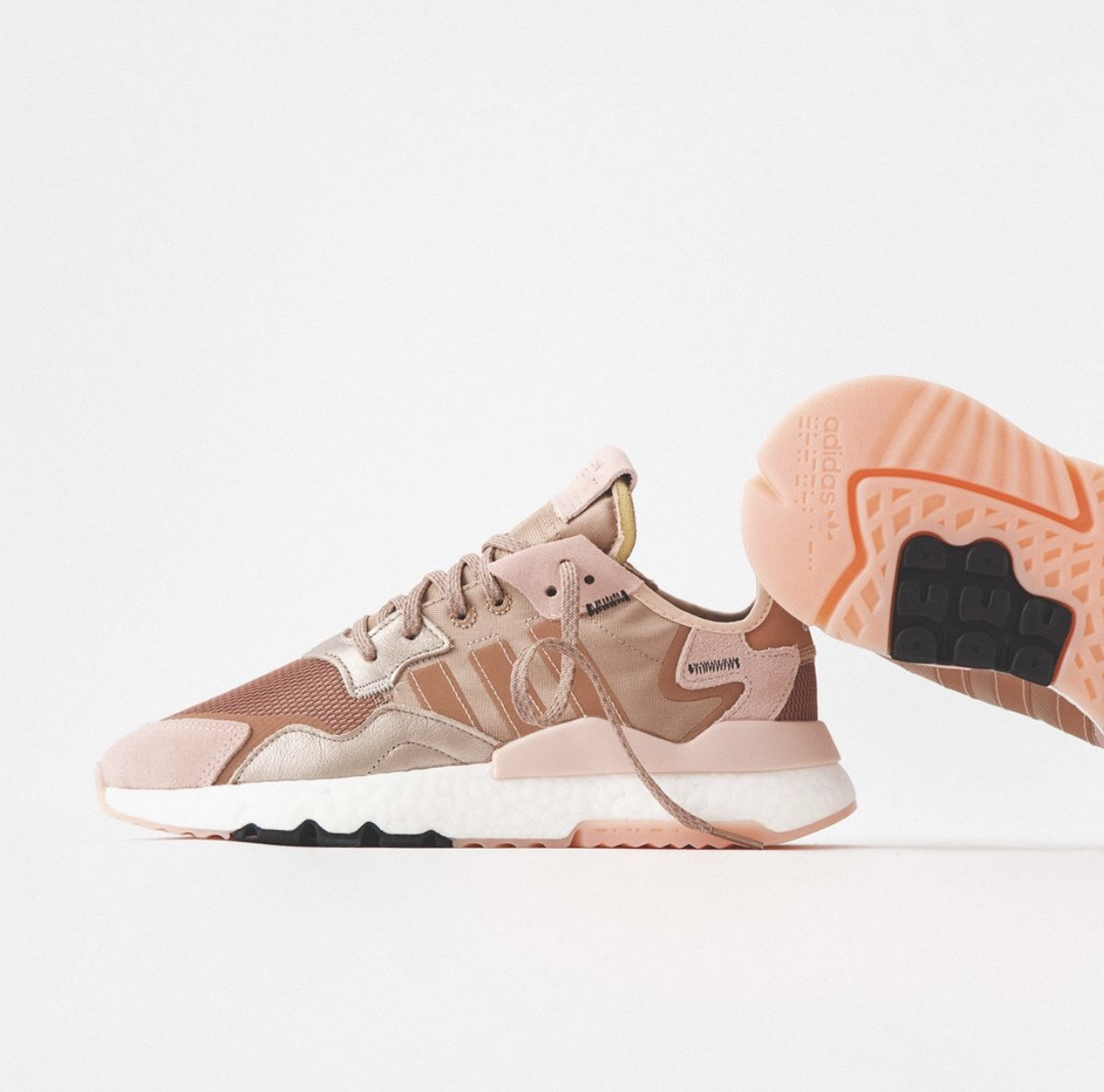 adidas nite jogger rose gold metallic