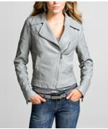 Faux leather motorcycle jacket for her, Express.com, $118.00