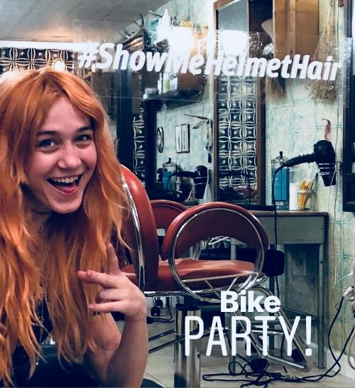 #ShowMeHelmetHair Bike Party