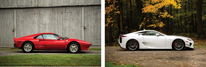 1985 Ferrari 288 GTO set for RM Sotheby's 2019 Arizona auction and 2012 Lexus LFA set for RM Sotheby's 2019 Arizona auction - Drew Shipley © 2018 Courtesy of RM Sotheby's