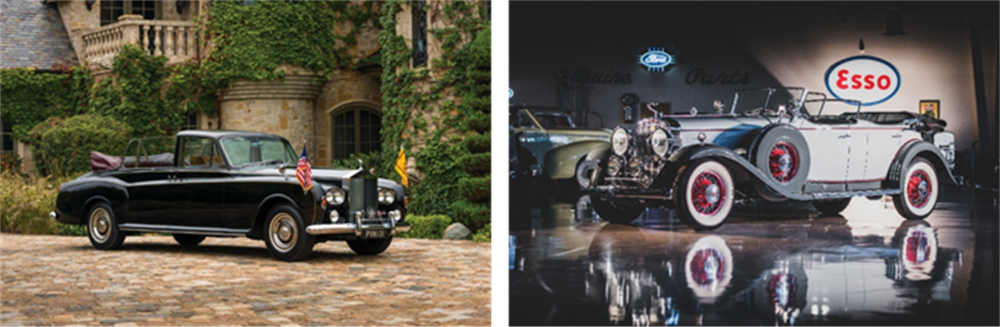 1967 Rolls-Royce Phantom V State Landaulet by Mulliner Park Ward offered from the Calumet Collection and set for RM Sotheby's 2019 Arizona auction - Robin Adams © 2018 Courtesy of RM Sotheby's  1930 Cadillac V-16 Sport Phaeton offered from the Richard L. Burdick Collection and set for RM Sotheby's 2019 Arizona auction - Darin Schnabel © 2018 Courtesy of RM Sotheby's