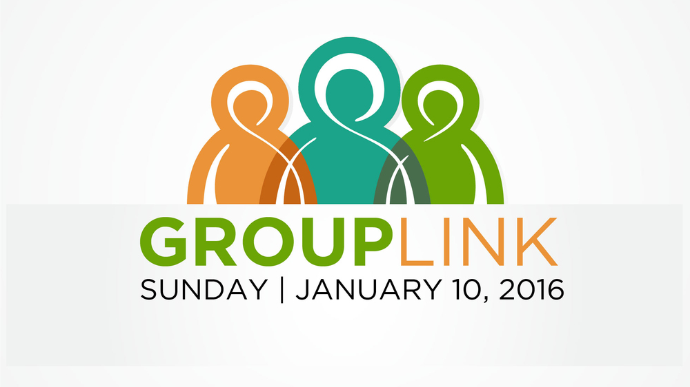 GROUP LINK - Sunday, January 10 - After Each Service We desire to grow together this spring and the best way to do that is in a Community Group. Find a group after each service in the lobby.