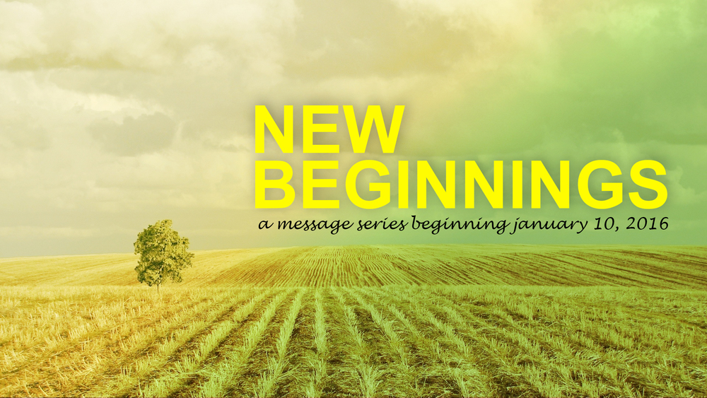 "NEW SERMON SERIES BEGINS THIS SUNDAY, JANUARY 10 NEW BEGINNINGS: IT'S NEVER TOO LATE TO START OVER    Have you ever messed up? I mean, really messed up? That moment when you did what you said you'd never do... When you said what you thought you'd never say... When you gave up, gave in, and had to live with the regret... All of us have moments we wish we could do differently... Experiences we wish we would have avoided... Failures we wish we could erase...  If only...It...would...Be...Different... Then there's God. The God of the do over. The God who loves you and hasn't given up on you. He not only sees what you are, he sees what you have become. He's the God of the Second Chance...and, He's offering you one today.  Join us for our new series, ""New Beginnings: It's Never Too Late to Start Over""."