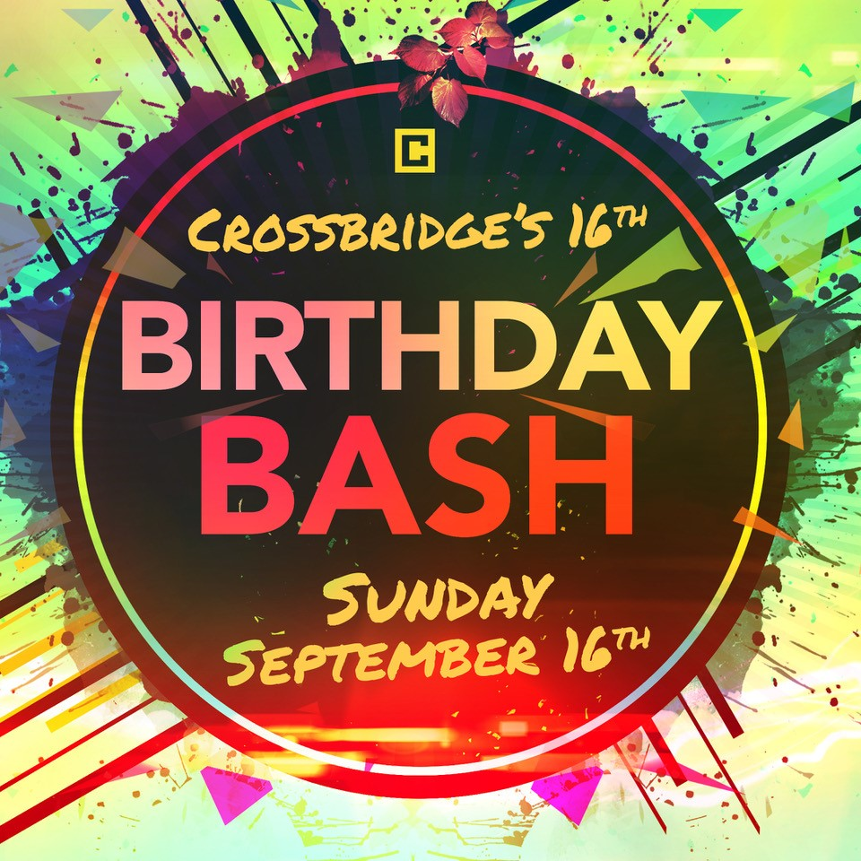 "CB BIRTHDAY BASH | SEPTEMBER 16   Celebrate Crossbridge's 16th Birthday and the launch of our brand-new series ""You Asked For It!"". We'll have food and bounce houses for the kids! This is a great day to bring a new friend to Crossbridge!."