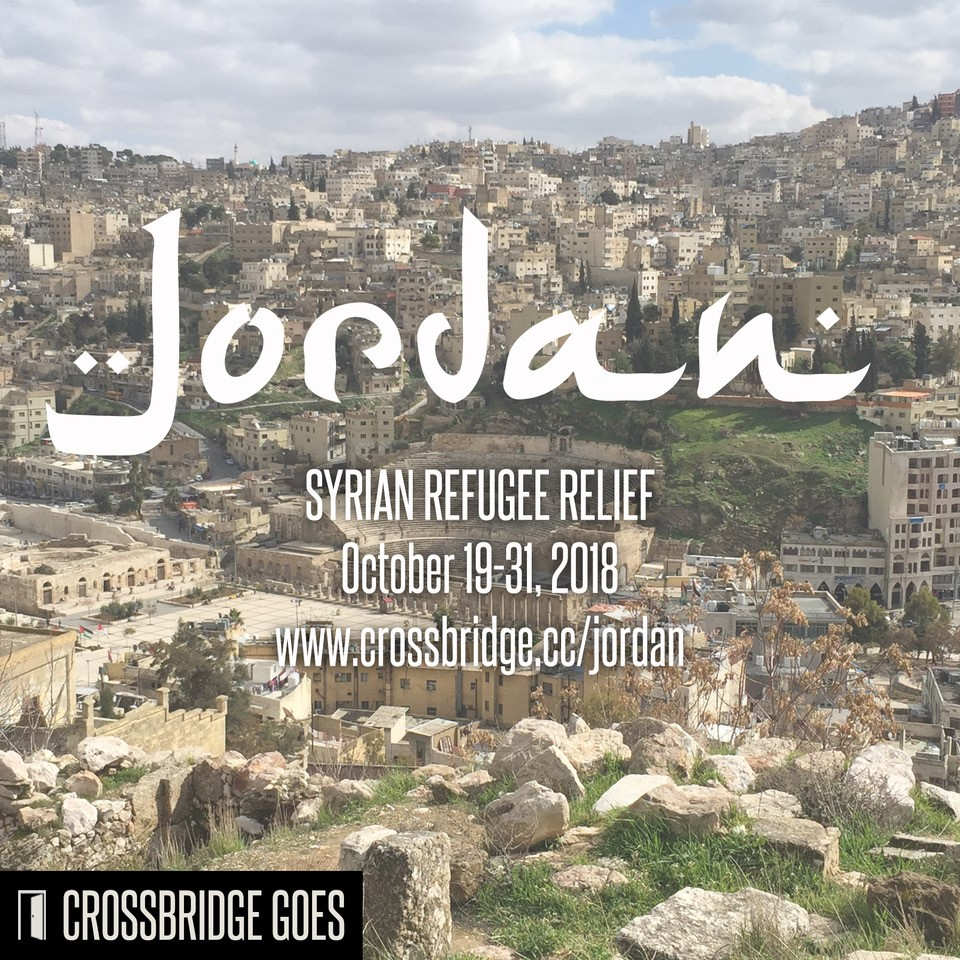 CB GOES INTERNATIONAL TRIP    We are sending a group to serve Syrian Refugees in Jordan October 19th-31st. We have been sending people to Jordan for the last several years, and the stories that come back are amazing. We would love to connect you with this trip! Registration deadline is September 15th. Click below to learn more.     MORE INFO