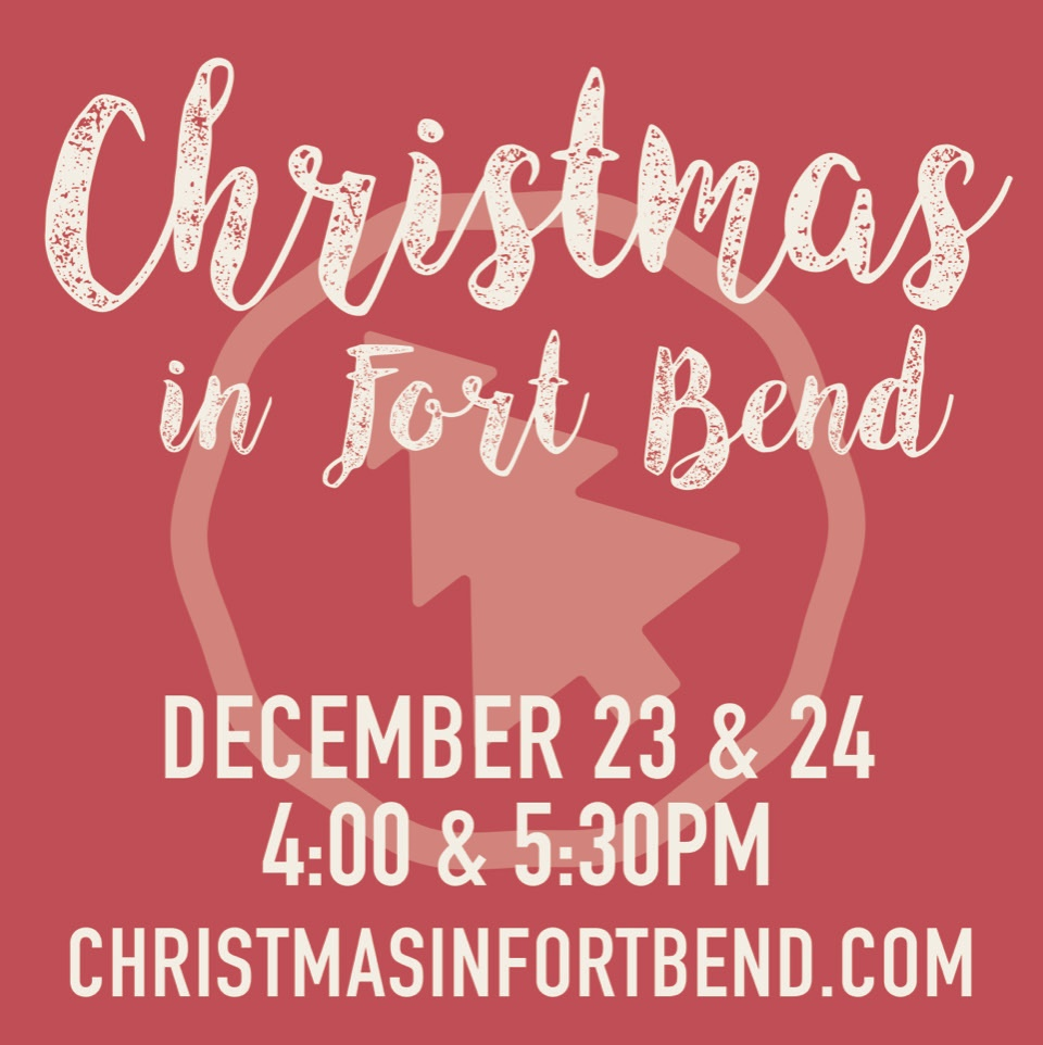 CIFB | DECEMBER 23 & 24 | 4:00 & 5:30 PM  Don't let the stress of Christmas be your family's final word this holiday. Find some peace and hope instead. Join us for Christmas in Fort Bend presented by Crossbridge Church... awesome music, a touching message, and memories you'll never forget. If you're wondering if you're invited, you are. And, of course, invite your family and friends, too. Click  here  to get your free tickets.