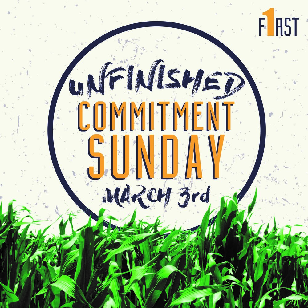 COMMITMENT SUNDAY | MARCH 3   God is on the move at Crossbridge. Make plans to be here for our Commitment Sunday, as all of us take a step in our Unfinished journey in declaring Jesus is first in our generosity. There is nothing small about this moment, and we can't wait to share it together.