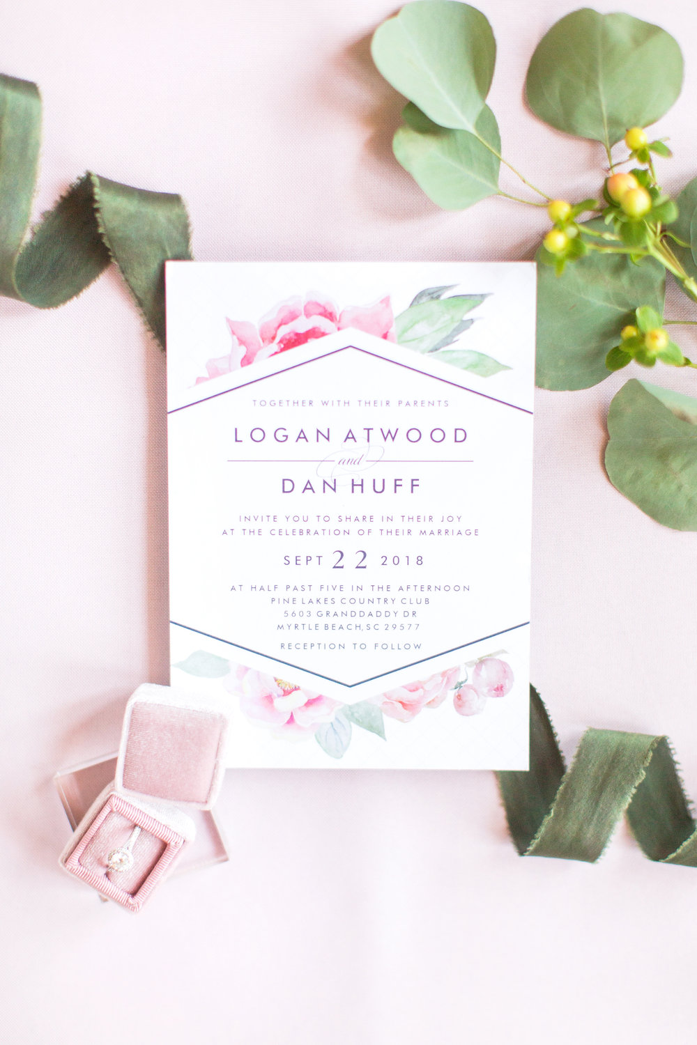 Blush and Green Wedding Invitation.jpg