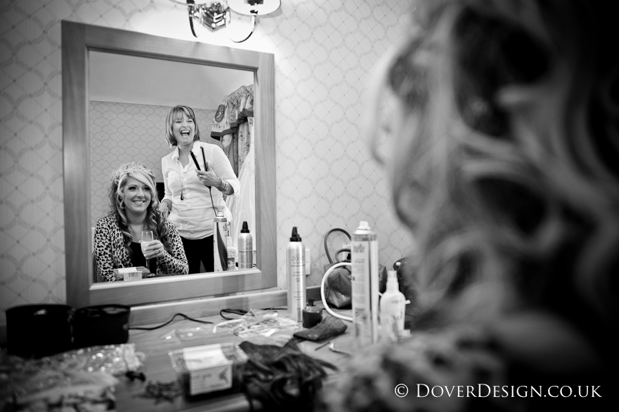 Bride getting ready - Howfield Manor Wedding Photography