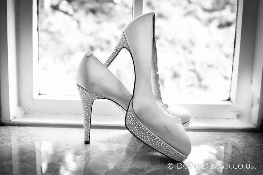 Wedding Shoes - Howfield Manor Wedding Photography