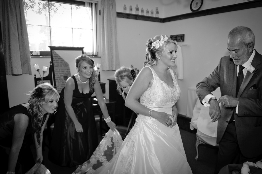 Bride getting ready - Winters Barn