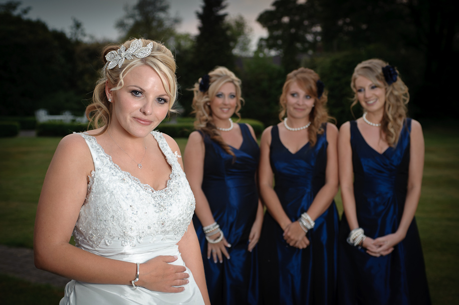 Bride and Bridesmaids Winters Barn