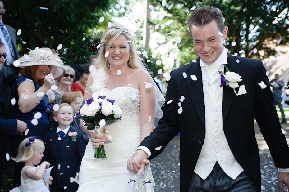 Confetti - I love confetti - Rowhill Grange Wedding Photogapher