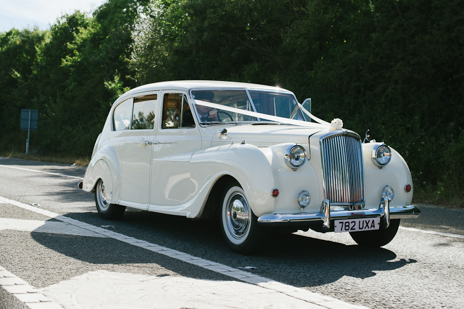 Cool wedding car - Rowhill Grange Wedding Photogapher