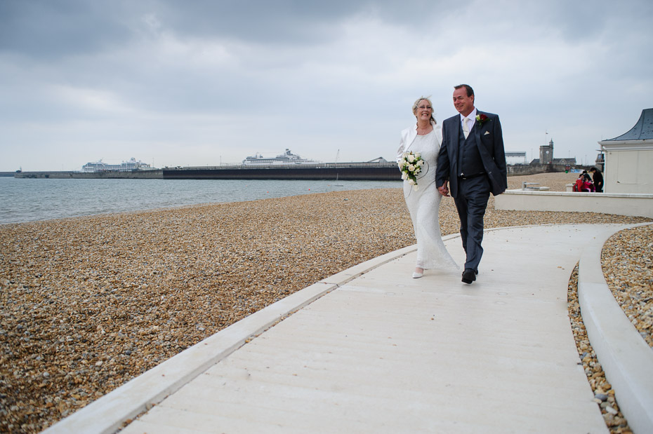 Bride and Groom - Wedding Photography at Dover Marina Hotel