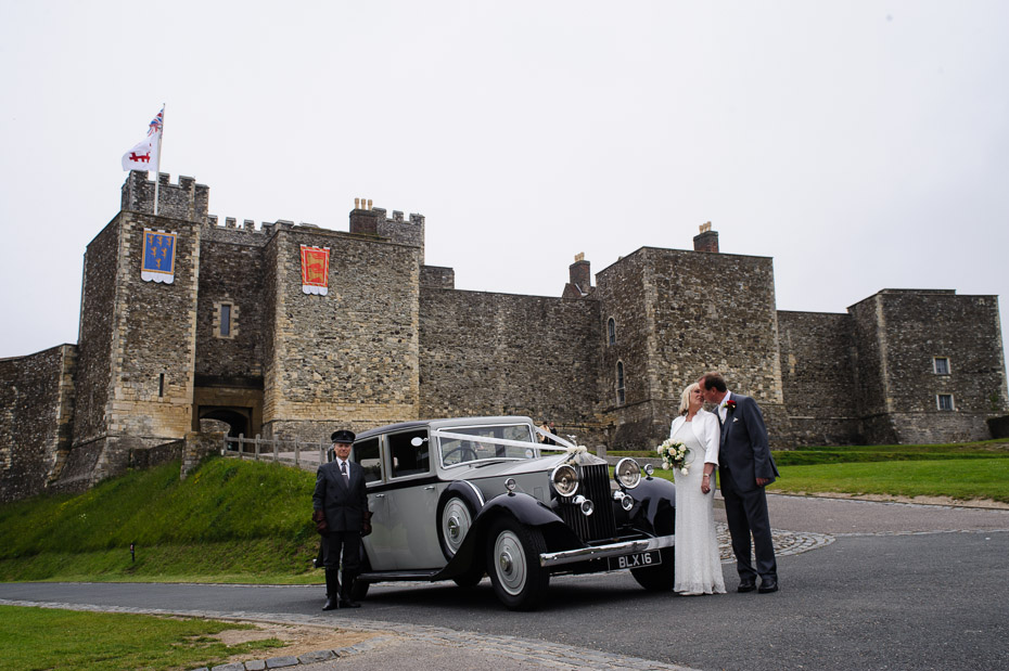 Wedding Car outside Dover Castle