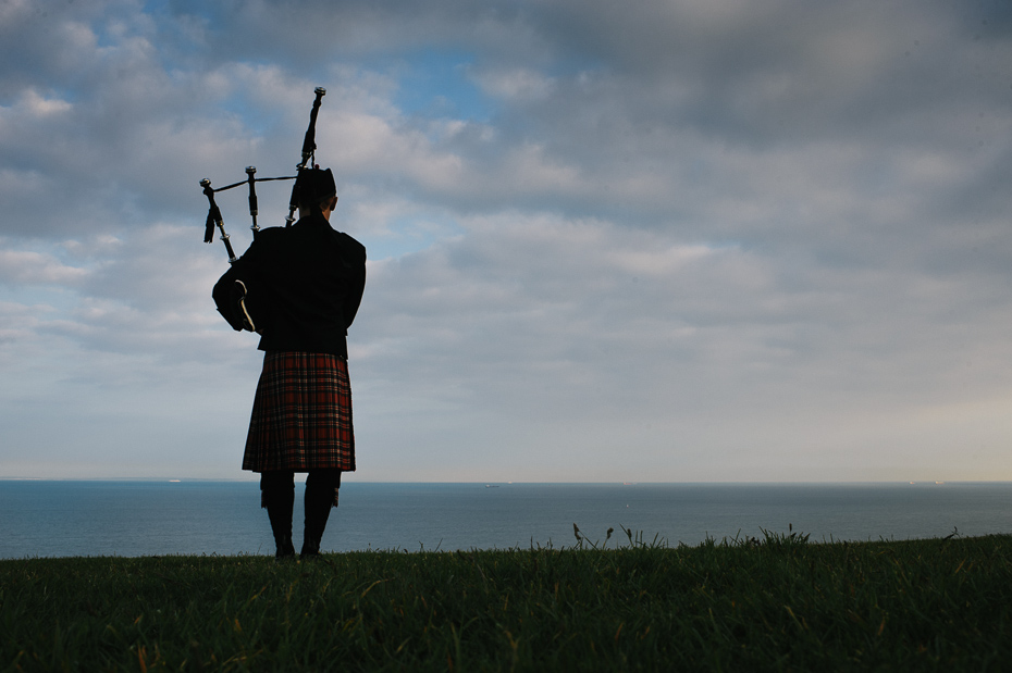 Bagpipes at dusk