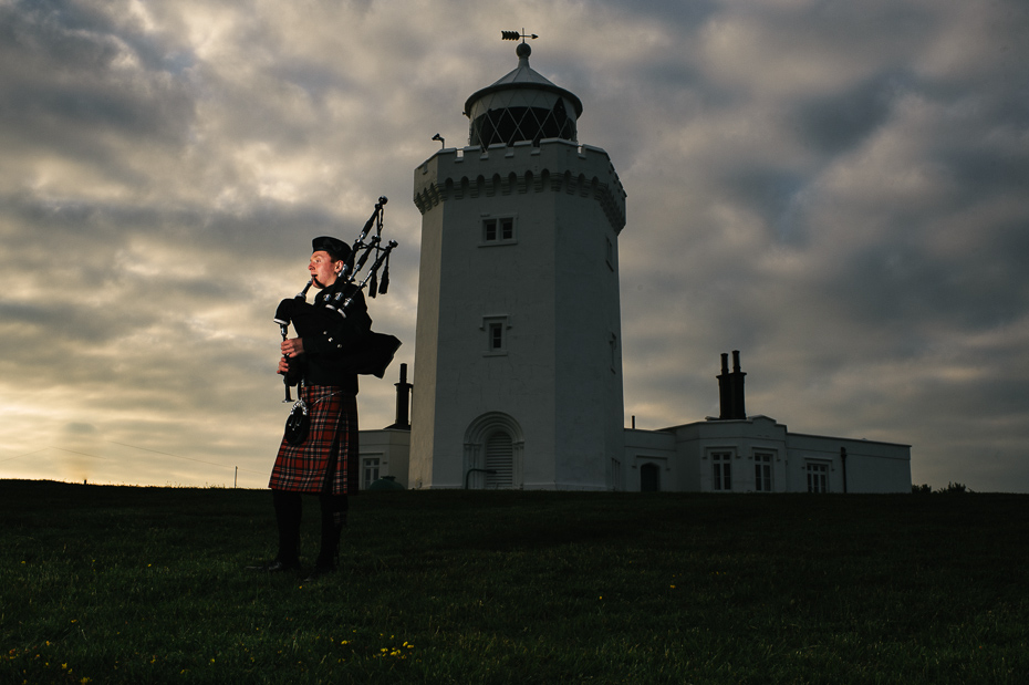 Bagpiper South Foreland Lighthouse