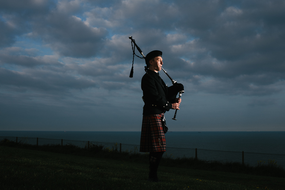 Bagpiper at dusk - Kent PR Photography