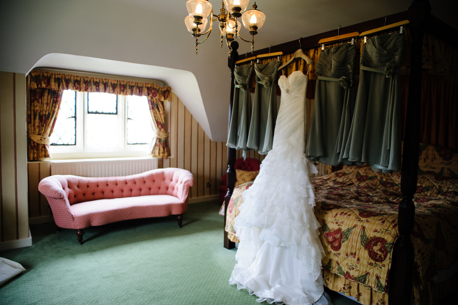 Eastwell Manor wedding photography - wedding dress