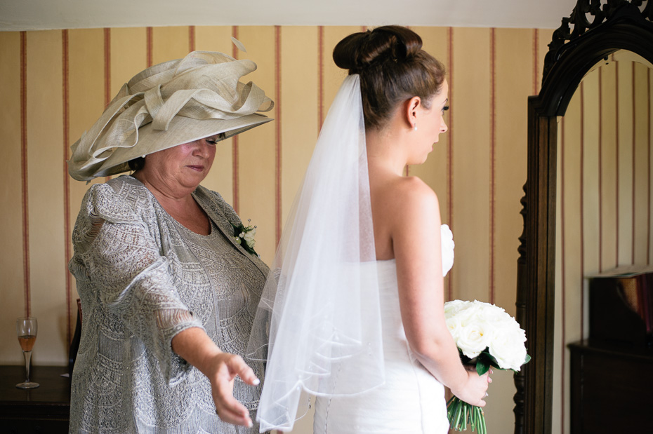 Bride and Mum  - Eastwell Manor Wedding Photographer
