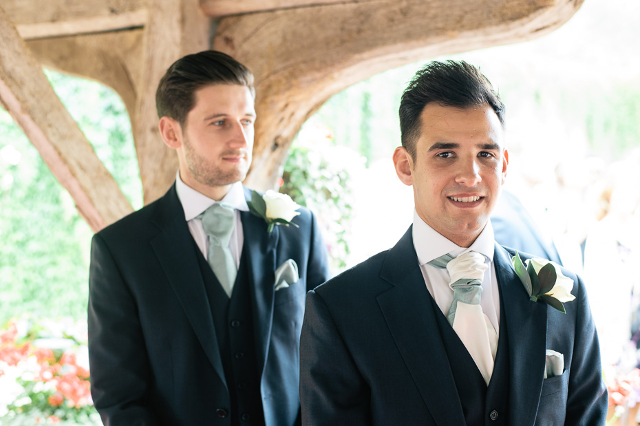 Groom Waiting - Eastwell Manor Wedding Photographer