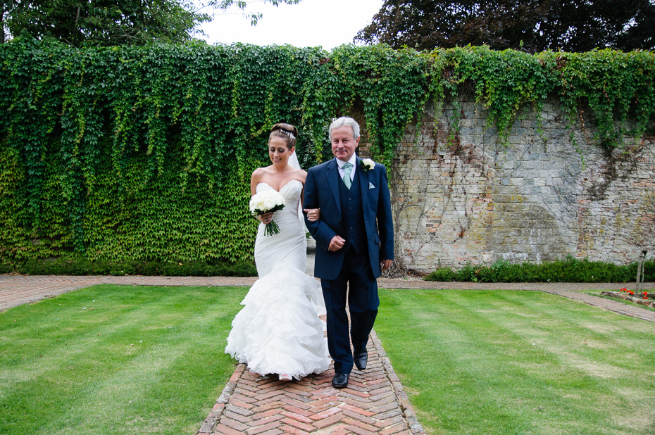 Bride and Dad - Wedding Photography at Eastwell Manor Ashford Kent