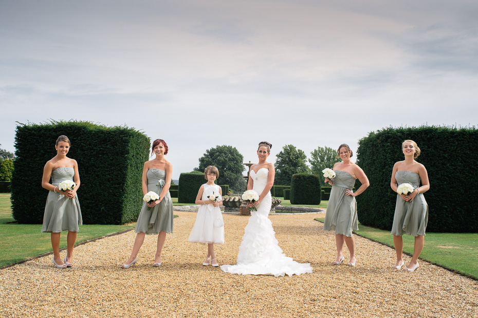 Bride and Bridesmaids - Wedding Photography at Eastwell Manor Ashford Kent