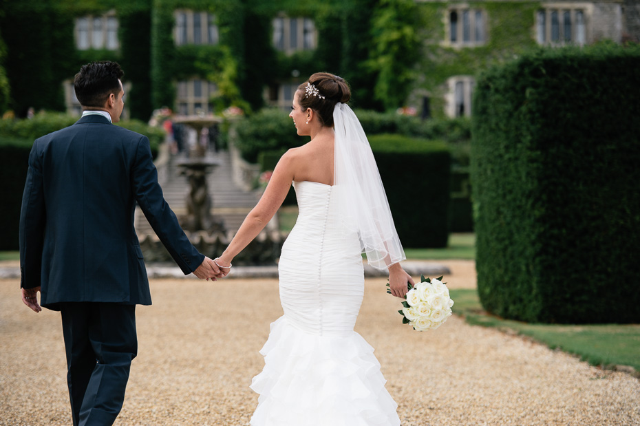 Bride and Groom at Eastwell Manor Wedding Venue