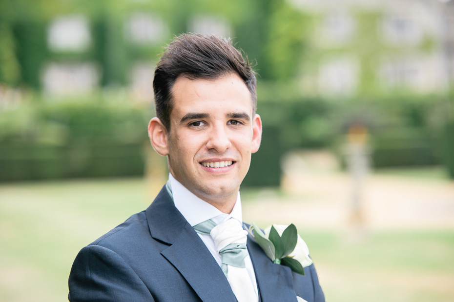 Groom at Eastwell Manor Wedding Venue
