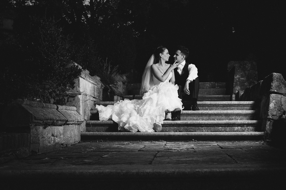 Romantic image of Bride and groom at Eastwell Manor