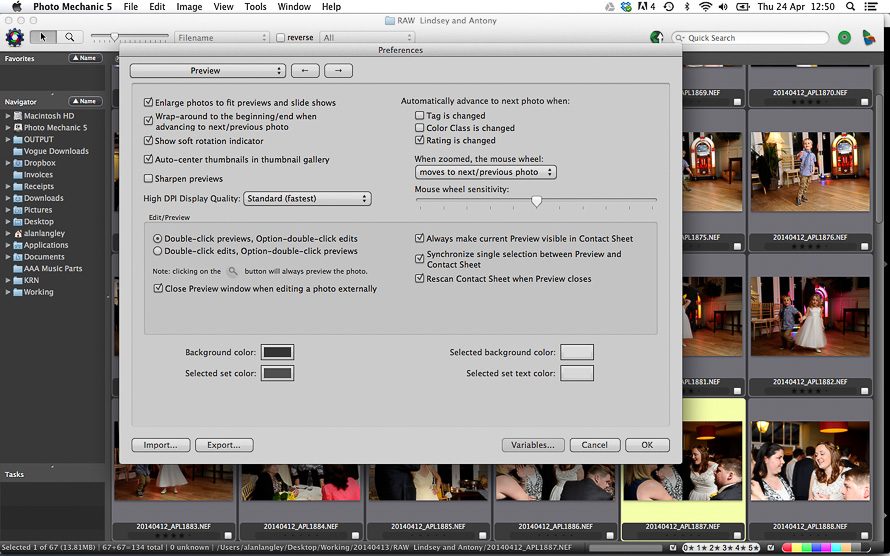 Photo Mechanic - Preview move to next image